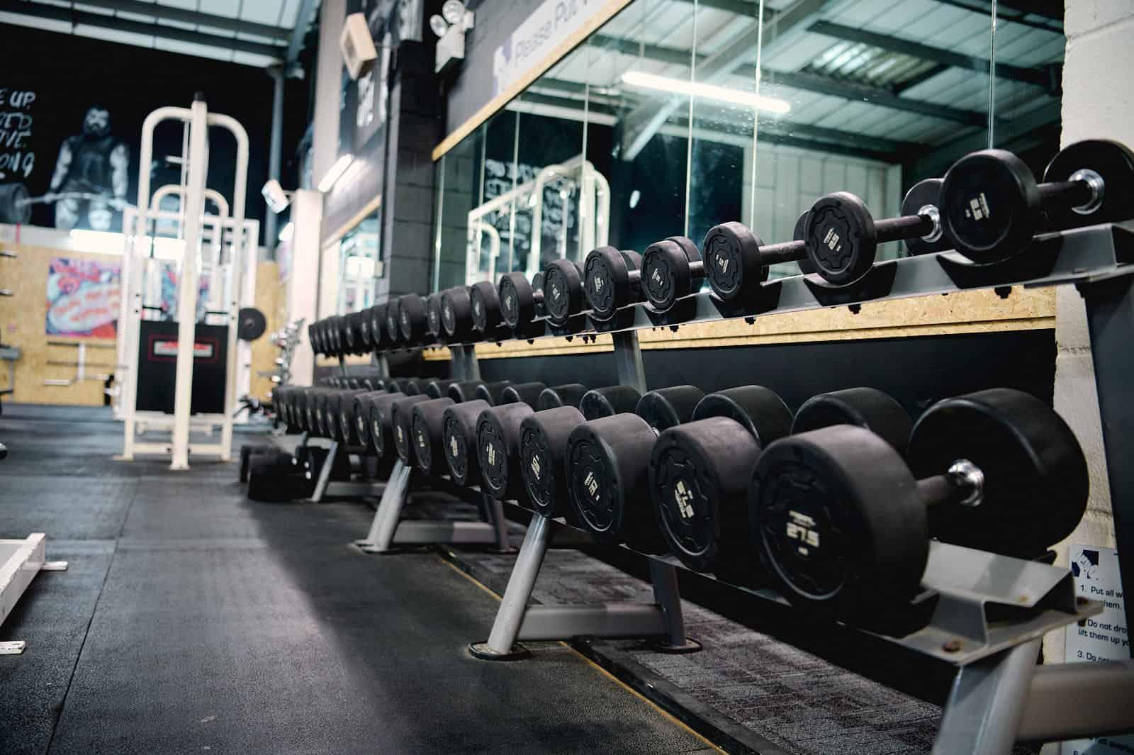 The Gym Gloucester Dumbbells